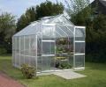 Lanitplast zahradní skleník VITAVIA URANUS (PC 4 nebo 6 mm) stříbrný