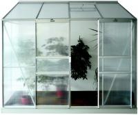 Lanitplast zahradní skleník IDA (PC 4 nebo 6 mm) stříbrný
