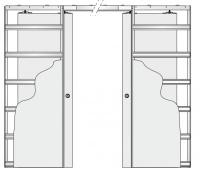 Eclisse stavební pouzdro dvoukřídlé