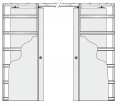 Eclisse stavební pouzdro dvoukřídlé do sádrokartonu