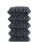 Čtyřhranné pletivo IDEAL PVC 50 kompaktní role bez napínacího drátu, antracit