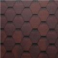 Onduline střešní asfaltový šindel Bardoline BASE hexagonal mix červená