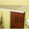 Lanitplast vchodová stříška LARUS bílá detail