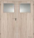 Masonite interiérové dveře kašírované 1/3 SKLO dvoukřídlé