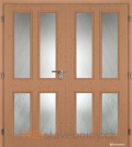 Masonite interiérové dveře HECTOR PVC dekor dvoukřídlé