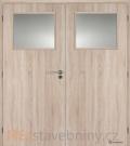 Masonite interiérové dveře 1/3 SKLO dvoukřídlé laminát premium