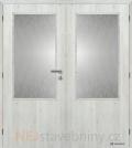 Masonite interiérové dveře 2/3 SKLO dvoukřídlé laminát premium