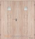 Masonite interiérové dveře QUADRA 1 dvoukřídlé laminát premium