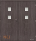 Masonite interiérové dveře QUADRA 2 dvoukřídlé laminát premium