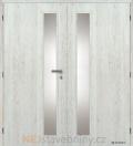 Masonite interiérové dveře VERTIKA SKLO dvoukřídlé laminát premium
