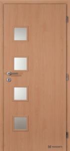 Laminované dveře Masonite Giga sklo buk