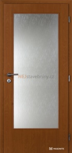 Jednokřídlé dveře Masonite 3/4 sklo fólie olše