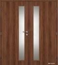 Masonite interiérové dveře VERTIKA sklo dvoukřídlé laminát standard