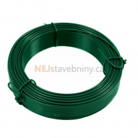 Vázací drát poplastovaný Zn+PVC zelený délka 25 m, síla 2,6 mm