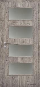 Jednokřídlé dveře Masonite Dominant sklo dub siena