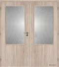 Masonite interiérové dveře kašírované 2/3 SKLO dvoukřídlé