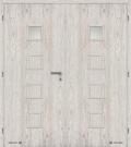 Masonite interiérové dveře kašírované QUADRA 1 dvoukřídlé