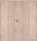 Masonite interiérové dveře kašírované QUADRA plné dvoukřídlé