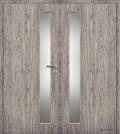 Masonite interiérové dveře kašírované VERTIKA sklo dvoukřídlé