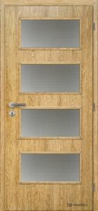 Masonite interiérové dveře DOMINANT SKLO laminát standart dub corbridge