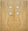 Masonite interiérové dveře GIGA 2 dvoukřídlé laminát standard