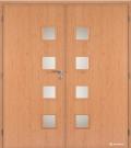 Masonite interiérové dveře GIGA sklo dvoukřídlé laminát standard