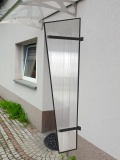 Lanitplast boční stěna UNI antracit / PC
