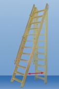 Minka FLEXIBO mlynářské schody s madlem 300 x 55