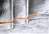 detail hydroizolace sečnové pilotové stěny a základové desky
