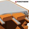 řez stropní konstrukcí POROTHERM