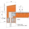 POROTHERM překlad 7  Detail okenního nadpraží pro stěnu tl. 440 mm - varianta A