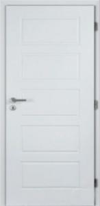 Hladké bílé plné dveře Masonite Oregon
