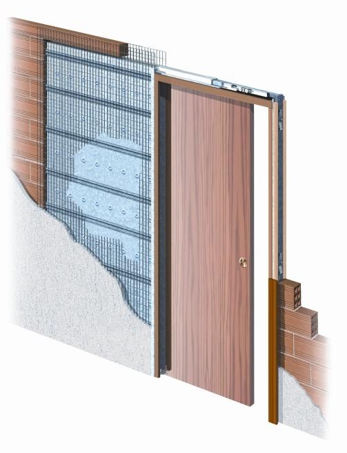 Eclisse stavební pouzdro jednokřídlé do zdi 600 mm