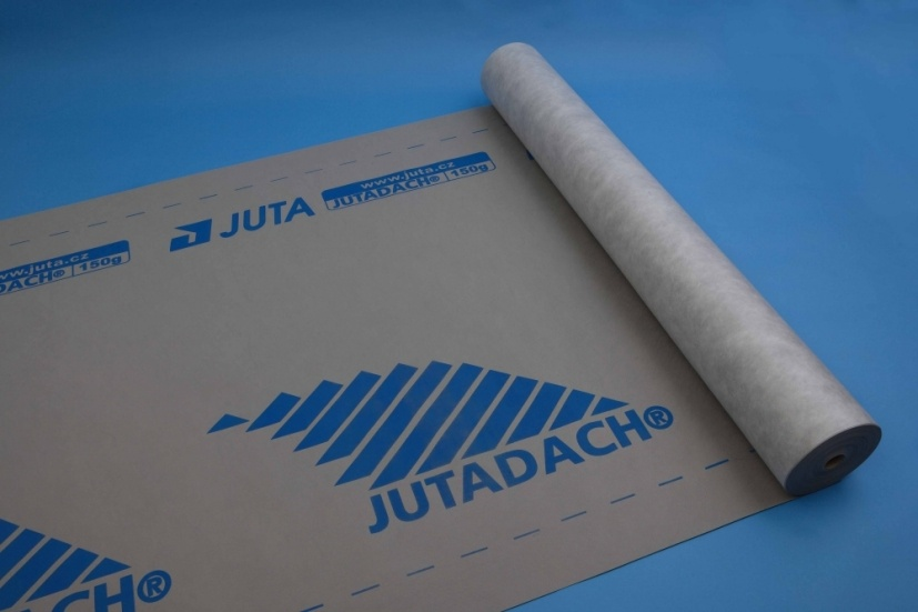 Juta paropropustná fólie Jutadach 150 g PLUS s aplikační páskou