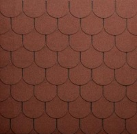 Onduline Střešní asfaltový šindel Bardoline CLASSIC bobrovka 013 červená mix