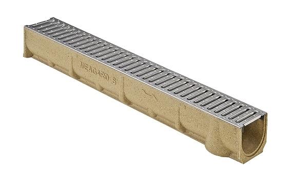 MEA Water MEA odvodňovací žlab SELF LINE 100/110 s ocelovým roštem 1 m