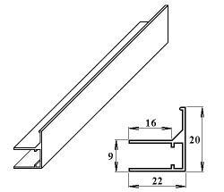 LanitPlast AL ukončovací / okrajový U/F-profil 6 mm/2,1 m