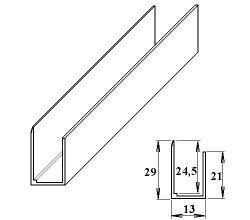 LanitPlast AL ukončovací U-profil 35 mm/6 m