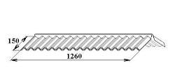 LanitPlast Polykarbonát-hřebenáč pro trapéz 76/16