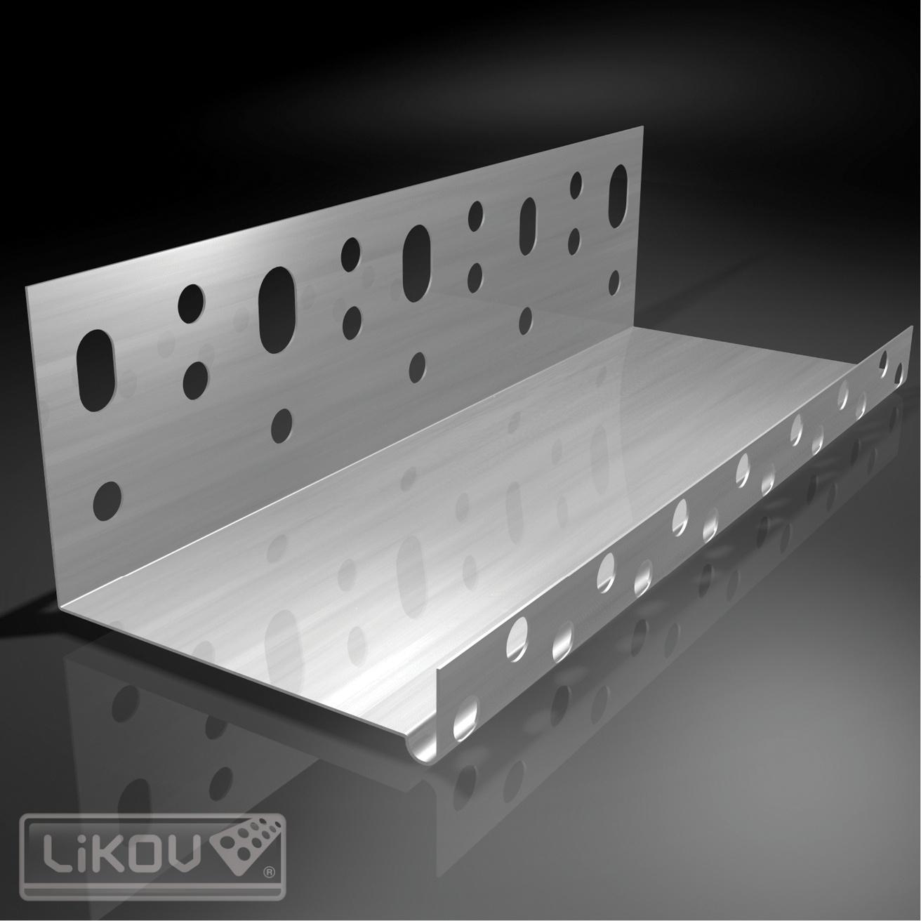 Likov Soklový zakládací profil LO 23 mm/07 - 2 m