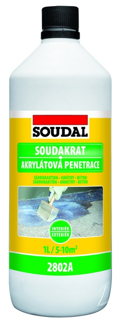 Akrylátová penetrace Soudal Soudakrat 1 kg