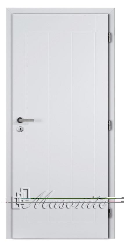 Masonite interiérové dveře a zárubně Masonite protipožární dvoukřídlé dveře hladké bílé MONTANA plné 125 cm
