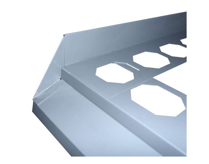 HASOFT balkonová koncovka pro boční profil hliník levá bílá