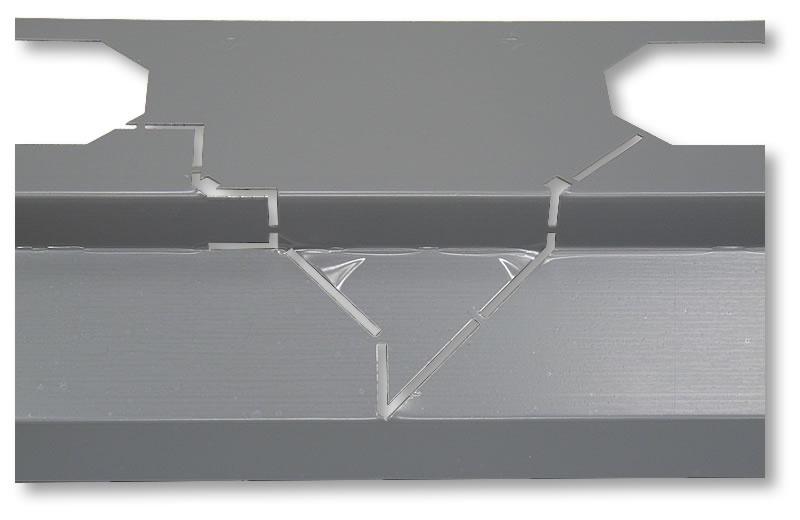 HASOFT balkonový profil rohový 1x1 m měď
