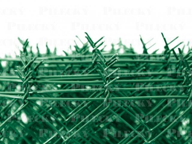 Pilecký Čtyřhranné pletivo IDEAL PVC výška 160 cm/25 m se zapleteným napínacím drátem, zelené