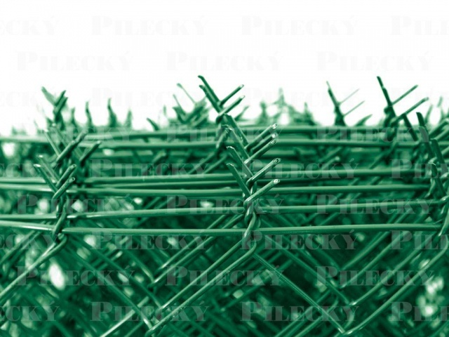 Pilecký Čtyřhranné pletivo IDEAL PVC zapletené výška 150 cm/25 m s napínacím drátem ,oko 55 mm - 1,65/2,5 mm, zelené