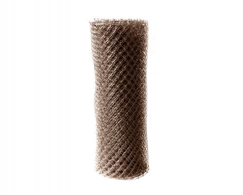 Pilecký Čtyřhranné pletivo IDEAL PVC výška 160 cm/25 m se zapleteným napínacím drátem, hnědé