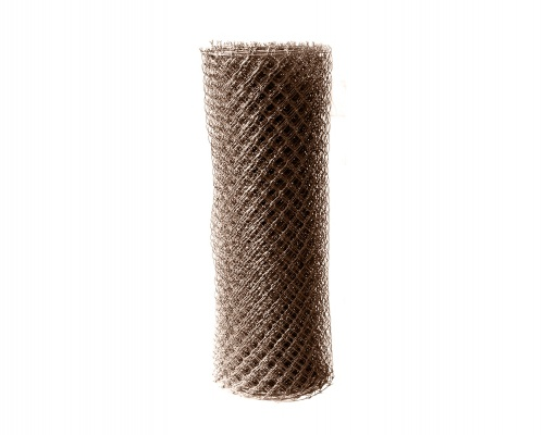 Pilecký Čtyřhranné pletivo IDEAL PVC zapletené výška 200 cm/25 m s napínacím drátem ,oko 55 mm - 1,65/2,5 mm, hnědé
