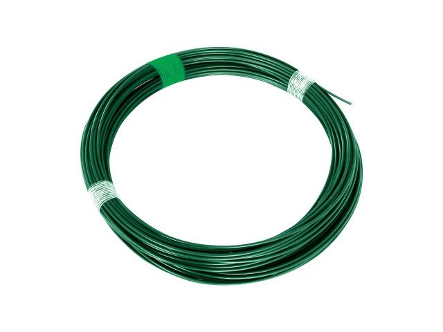 Pilecký Napínací drát poplastovaný Zn+PVC zelený délka 26 m