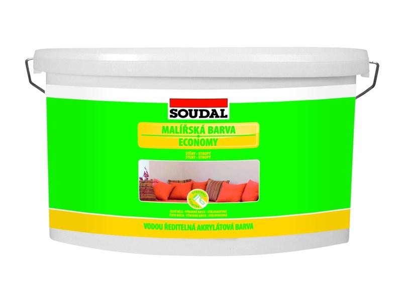 Malířská barva Soudal Economy 7,5 kg vnitřní bílá